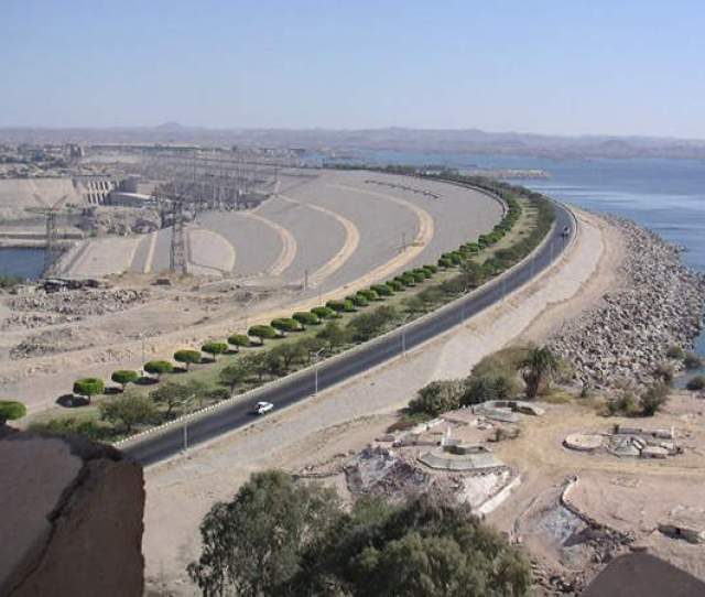 Aswan High Dam Is A Rock Fill Dam Located At The Northern Border Between Egypt