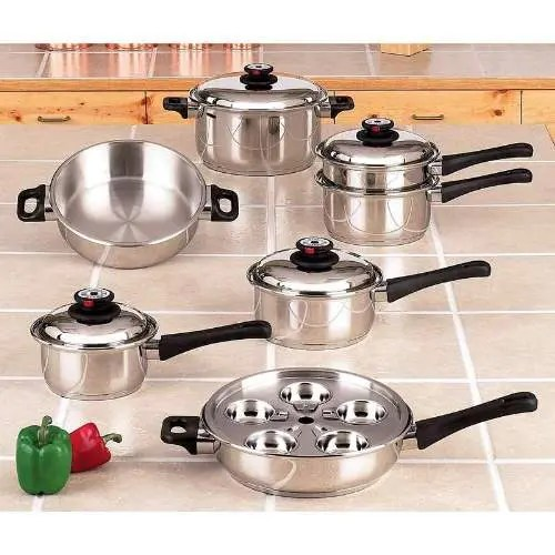 maxam waterless cookware set