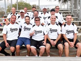 Tournament ready: This collection of Tampa MetroChefs take a break between games at the 2013 Gasparilla Tournament in Tampa. Photo by Steve Blanchard