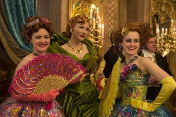 Holliday Grainger, the amazing Cate Blanchett, and Sophie McShera show off costumer Sandy Powell's fantastic work.