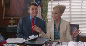 John Michael Higgins and Elizabeth Banks are back as the crass commentators; Banks shows herself a credible director in her debut full-length film.