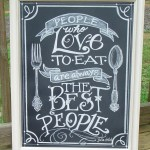 google store Julia Child Quotes Chalkboard Art | The Watermelon Stand