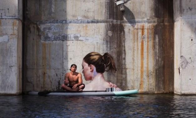 Sean Yoro: street art a pelo d'acqua