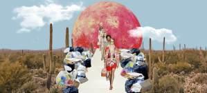 sfilata moda rifiuti