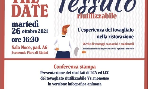 """26/10: conferenza """"Tessuto riutilizzabile"""" della EBLI"""