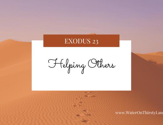 Exodus 23: Helping Others