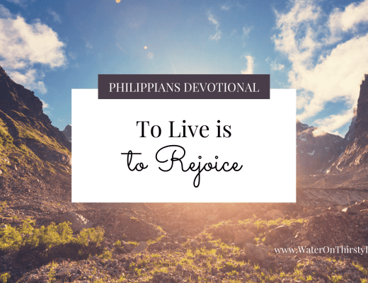 To live is to rejoice