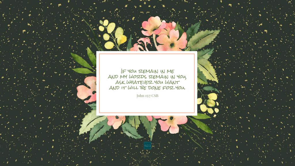 John 15:7 Wallpaper