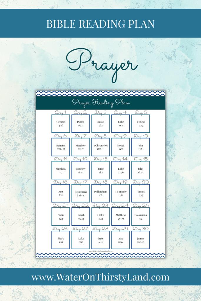 Prayer Bible Reading Plan