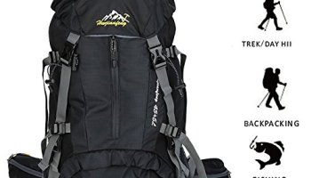 b7a042d7392a Hiking Backpack ONEPACK 50L(45+5) Waterproof Backpacking Outdoor Sport  Daypack for Climbing