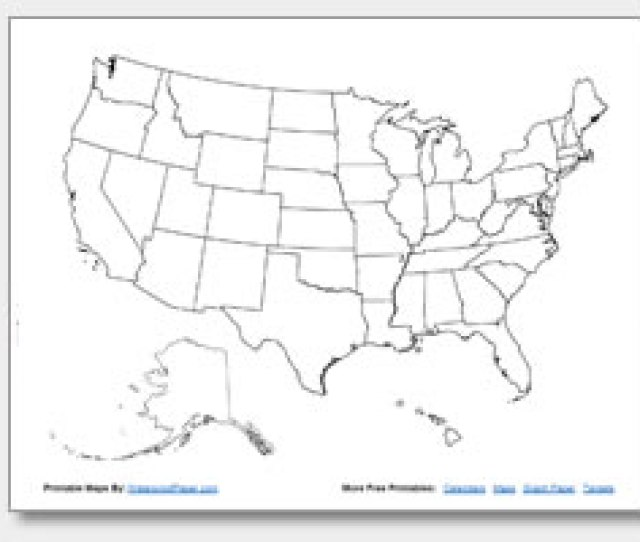 Blank Us Map No States In Usa Outline Printable S Royalty Blank Jpg - Us-map-printable-with-states