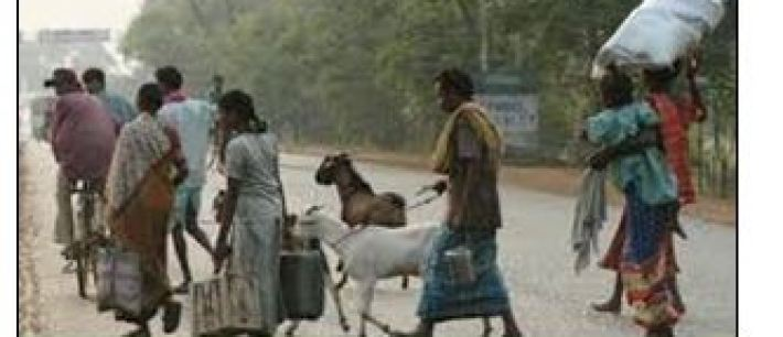 farmers migrating from villages to cities