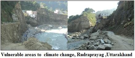 Vulnerable areas to  climate change, Rudraprayag ,Uttarakhand
