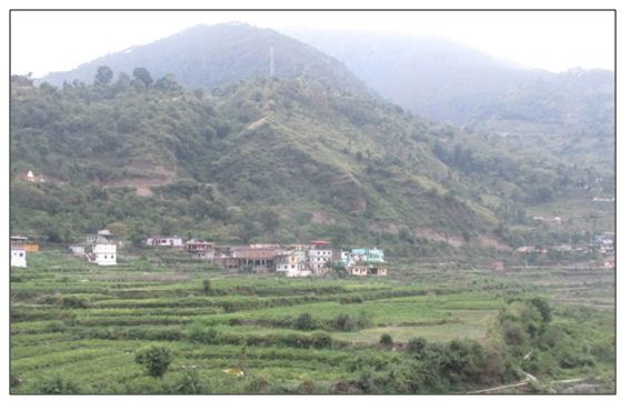 watershed area in hills