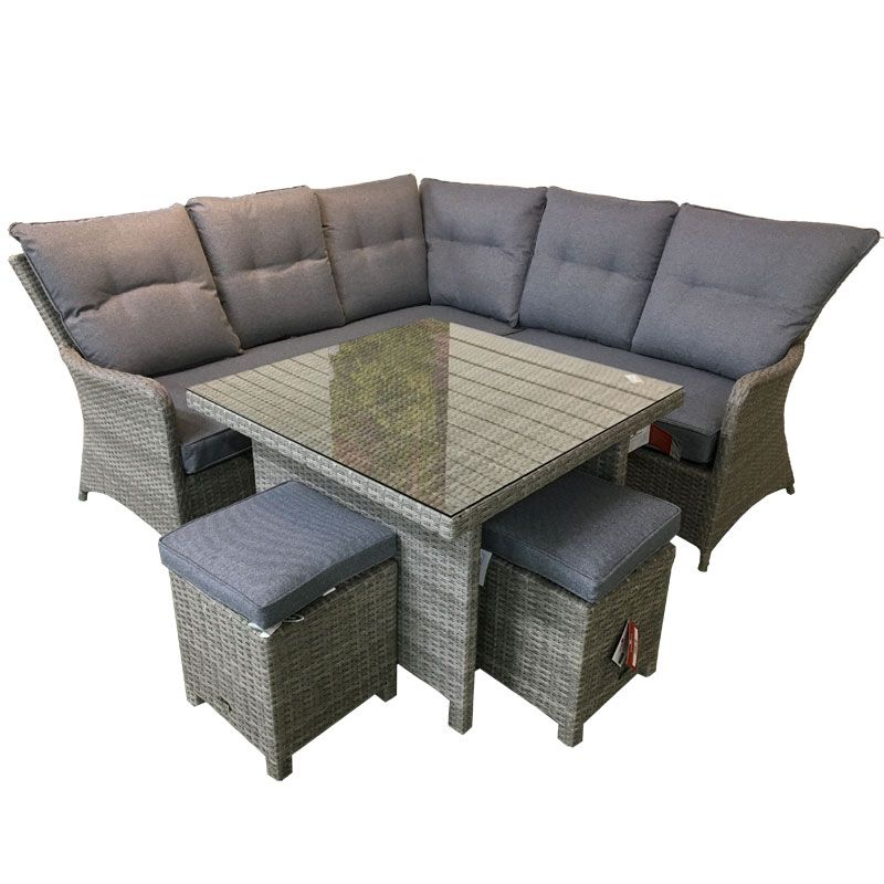 Barcelona Mini Modular Corner Garden Seating Dining Set