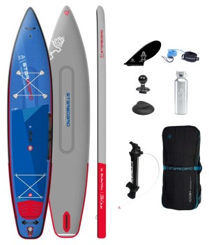 """starboard inflatable sup 12'6"""" x 30"""" x 6"""" touring deluxe sc 2022 pakket"""