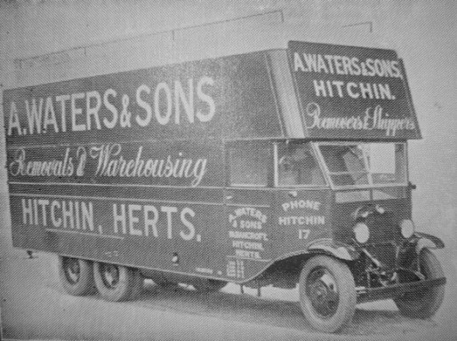 An Early Waters lorry