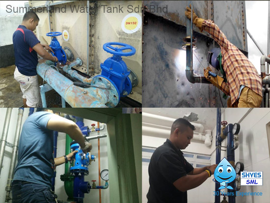Water Tank Plumbing & Piping Job