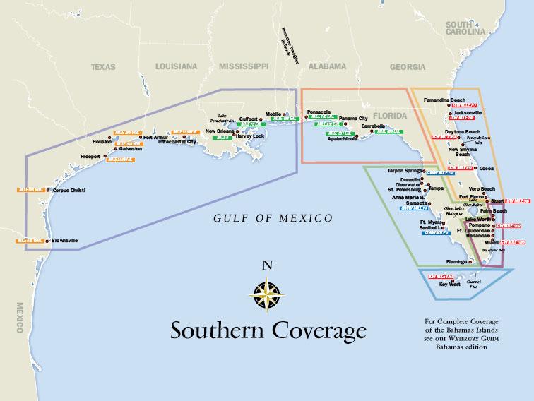 Intracoastal Waterway Map Florida West Coast
