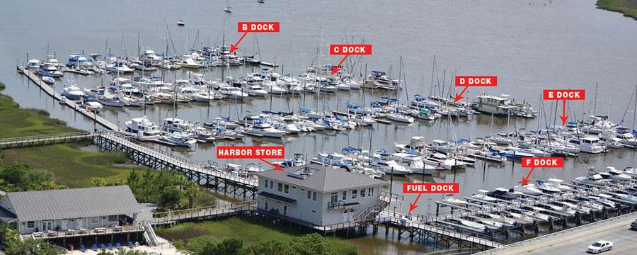 St Johns Yacht Harbor Charleston South Carolina SC Waterway Guide Marina Close Up