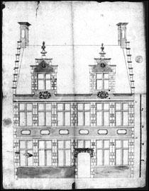 Bouwaanvraag 1700. SAG 535-371/14 (1700). Beeld: Stadsarchief Gent