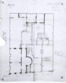grondplan 2 huizen in de tuin van Gelukstraat 32 - bouwaanvraag door Pauline Van Durme - SAG G12 1888 B6. Beeld: Stadsarchief Gent, opname: 1995