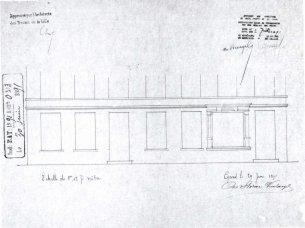 1891 - gevelplan - vierde kwart negentiende eeuw - bouwaanvraag SAG G12 1891 - O3. Beeld: Stadsarchief Gent