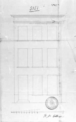 1839 - voorgevel - tweede kwart negentiende eeuw - SAG G12 nr. 5151 (1839) - 'een tweede verdiep op zijn huys te stellen'. Beeld: Stadsarchief Gent, opname: 1995