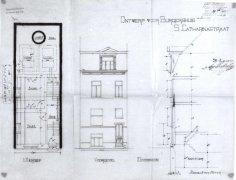191 - voorgevel - plan - doorsnede - eerste kwart twintigste eeuw - SAG G12 nr. 1913 S15. Beeld: Stadsarchief Gent, opname: 1995