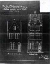 1919 - voorgevel - eerste kwart twintigste eeuw - SAG (1919) - 'Herbouwen en verhoogen van den Voorgevel'. Beeld: Stadsarchief Gent, opname: 1995