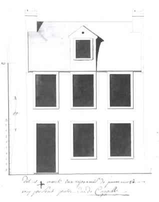 voorgevel vierde kwart achttiende eeuw - SAG 535/221-18 (1787) - verdwenen 1995. Beeld: Stadsarchief Gent, opname: 1995