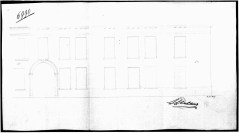 voorgevel tweede kwart negentiende eeuw - SAG G12 nr. 6990 (1846) - veranderingen aan corniche e.a. (cfr 535-169-6). Beeld: Stadsarchief Gent, opname: 1995
