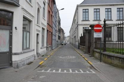 de rijrichting van de Baudelostraat is omgedraaid.