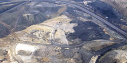 Mining causing pollution