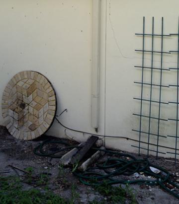 Water Wise before rain barrel installation