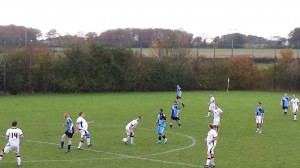 Midfield action from Saturday's game