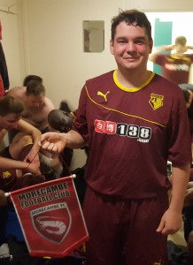 John Sitkowski's excellent display, after being moved inside to centre half after injury to Moz Clarke, saw him win the inaugural 'Morecambe Pennant MOM' award