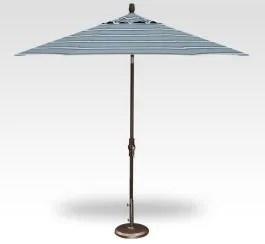 9 collar tilt market umbrella paddock aqua stripe