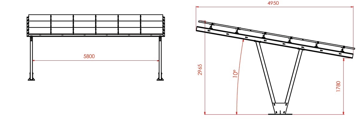 Photovoltaic Carport Double Stand