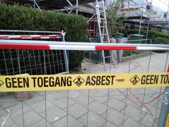 Eerste fase, asbest verwijderen