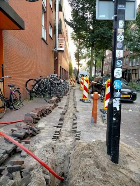 Glasvezel aanleg Amsterdam