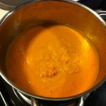 Roasted butternut squash and carrot soup