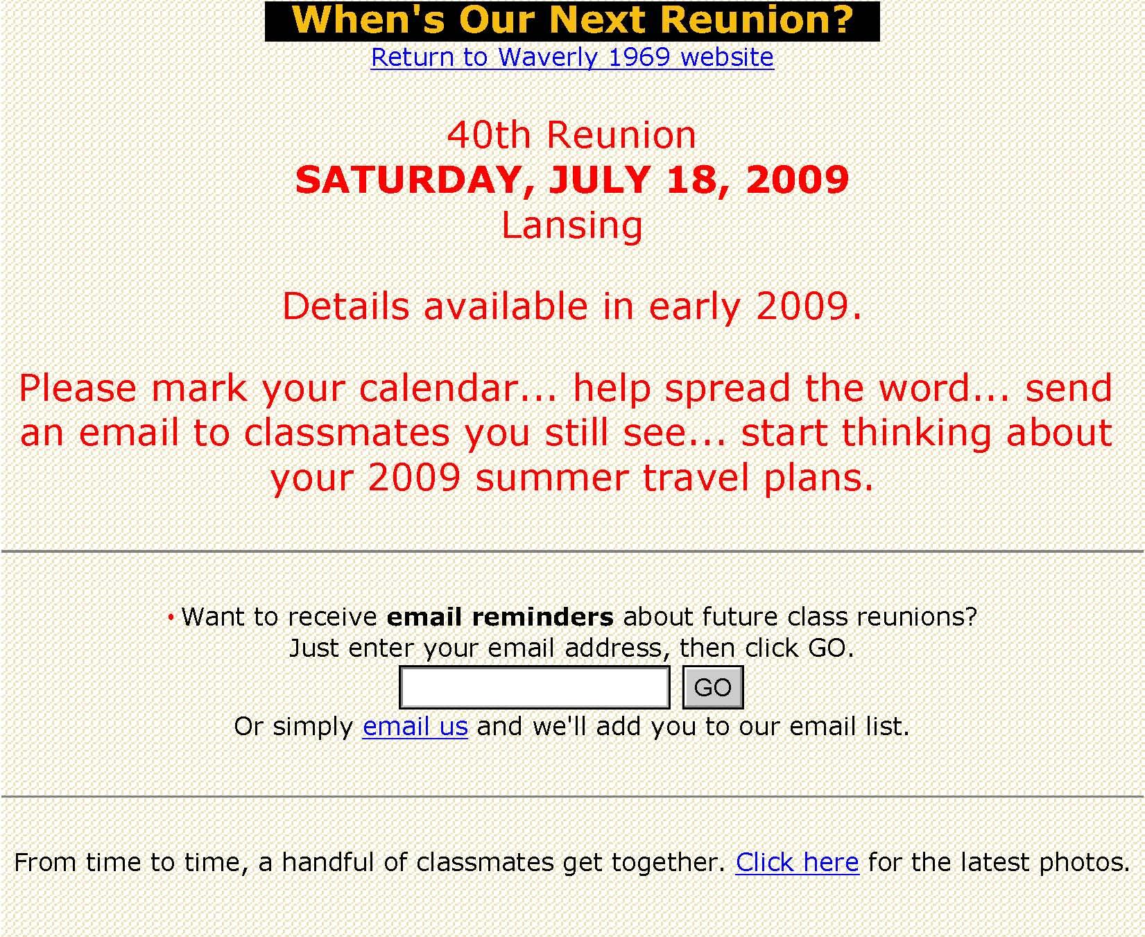class reunion invitation template – Reunion Invitation Sample