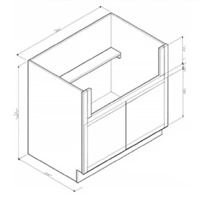 ghi stone harbor gray farm sink base cabinet shg fsb36