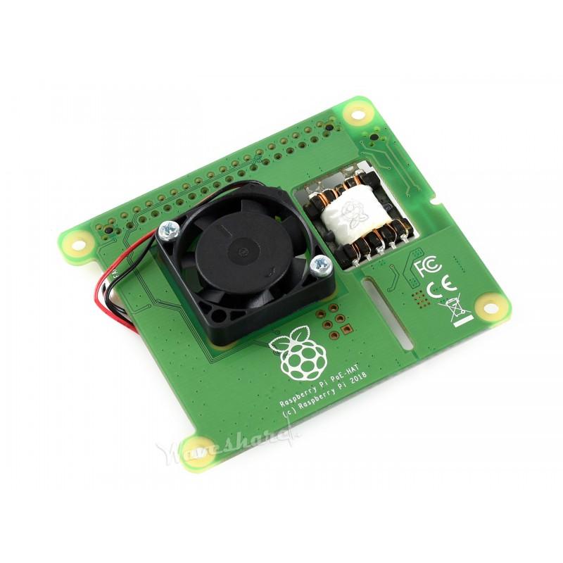 Power Over Ethernet Hat For Raspberry Pi 3b 4b 802 3af Poe Network