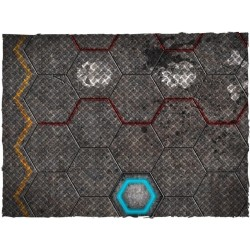 tapis de jeu futuristic football garage mousepad