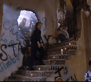 Biscaya Hotel at 540 West Ave (former Floridian Hotel). Drug den scene from Miami Vice, 1985.