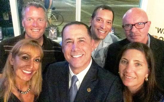 WAvNA party at Anthony's, to honor Mayor & Staff. Mayor surrounded by Wavna Board.