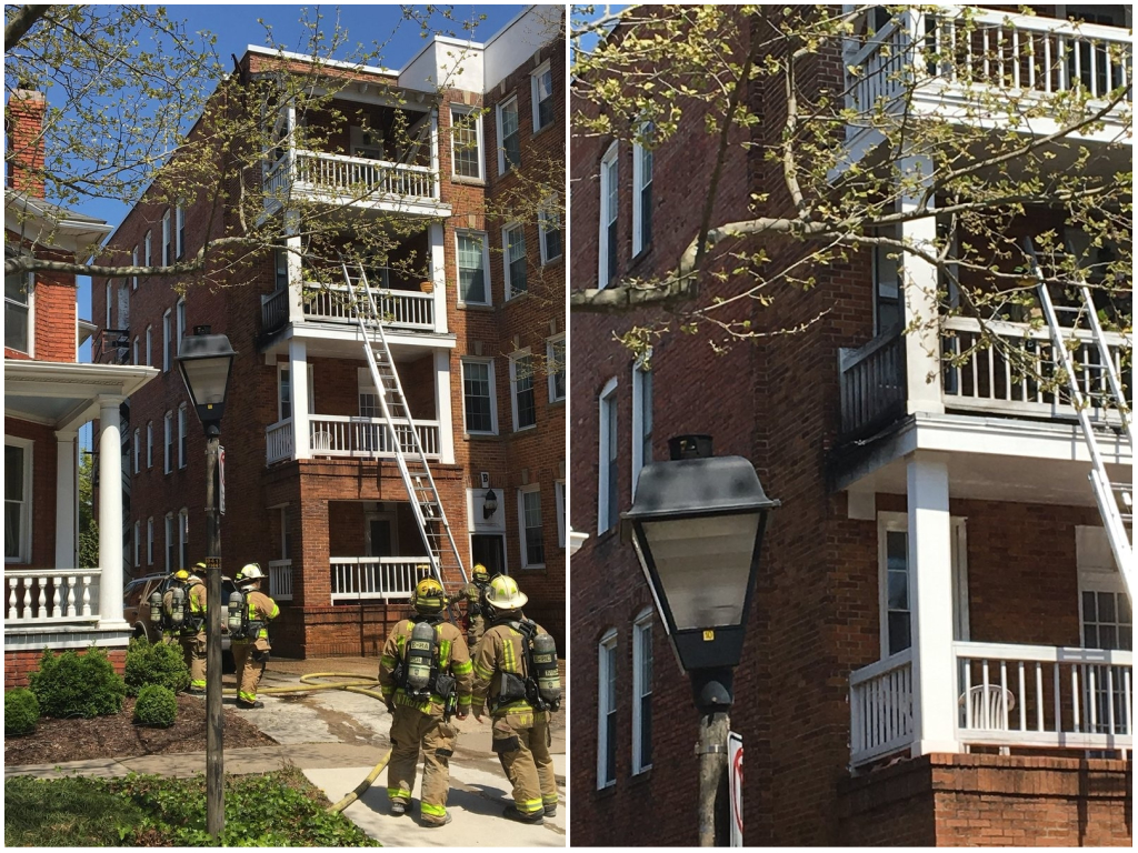 Norfolk Apartment Balcony Fire