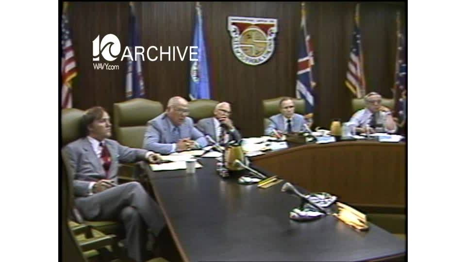 WAVY Archive: 1981 Water Study Task Force